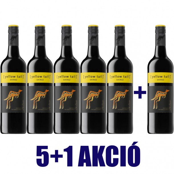 5+1 AKCIÓ! Yellow Tail Shiraz